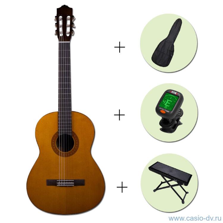 Классическая гитара YAMAHA C-40 + чехол + тюнер + подставка
