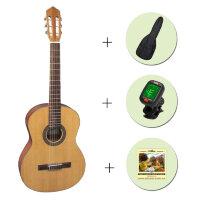 Классическая гитара FLIGHT C-120 NA 4/4 + чехол + тюнер + струны