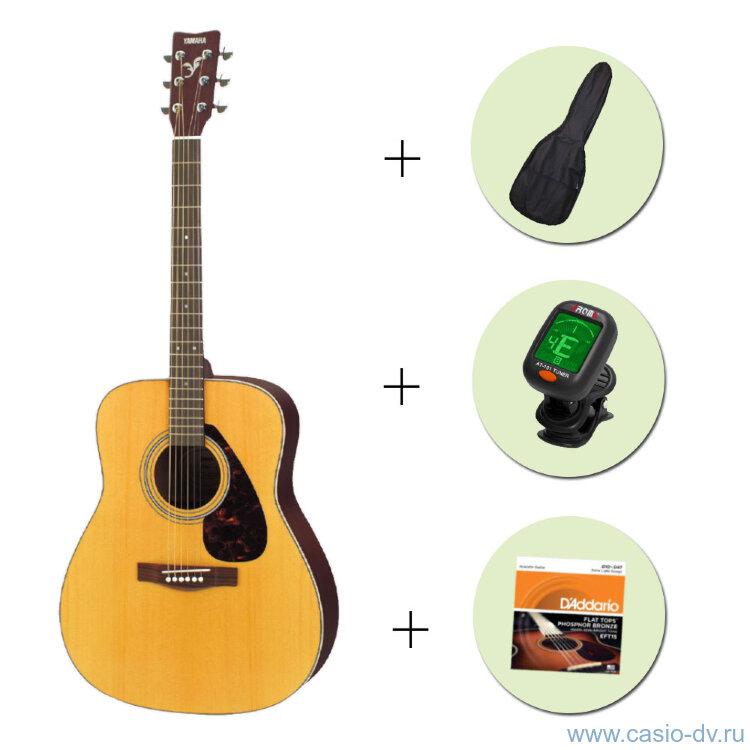 Акустическая гитара YAMAHA F-310 + чехол + тюнер + струны